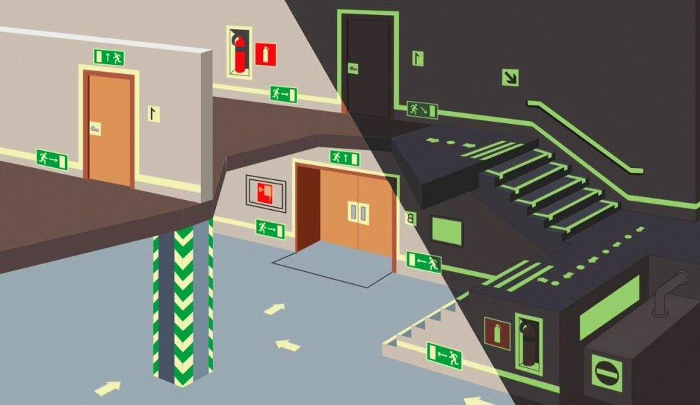 Фэс фотолюминесцентные эвакуационные системы