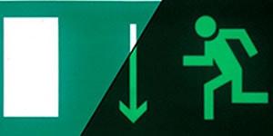 Знак эвакуации Указатель двери эвакуационного выхода левосторонний E 10