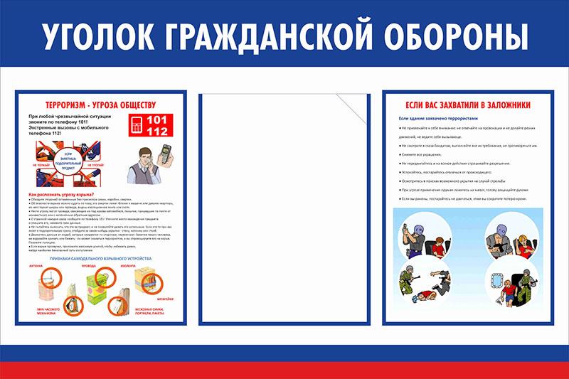 Стенд уголок ГО и ЧС  // 75х50см // №2