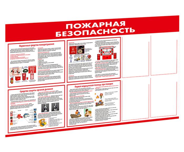 Стенд «Пожарная безопасность» // 140х80см // №1