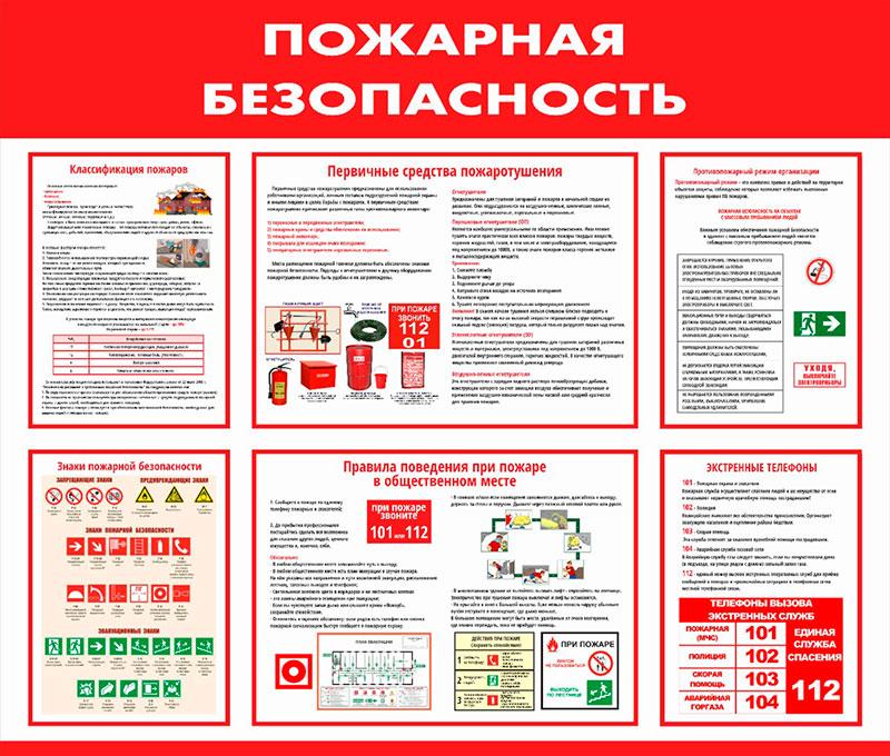 Стенд пожарной безопасности информационный // 100х85см // №2