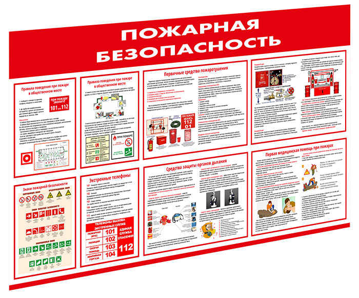 Стенд «Пожарная безопасность» // 140х85см // №1