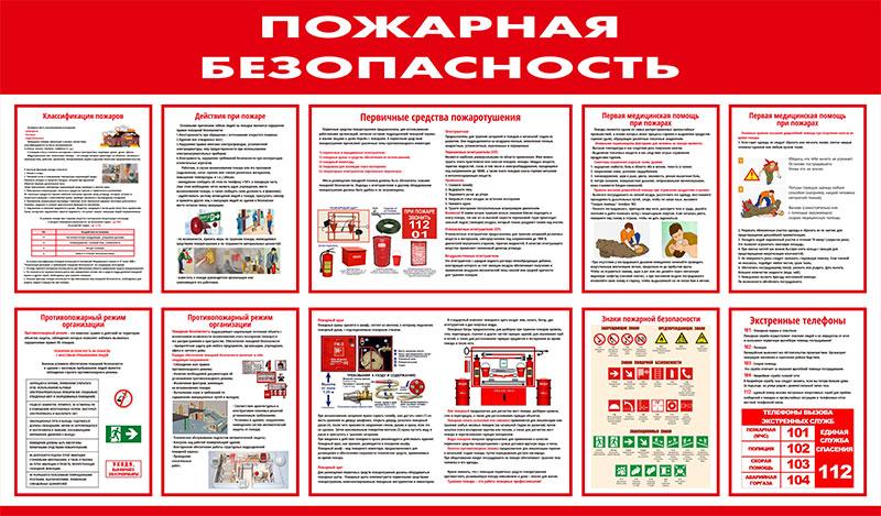 Стенд противопожарный информационный // 145х85см // №1