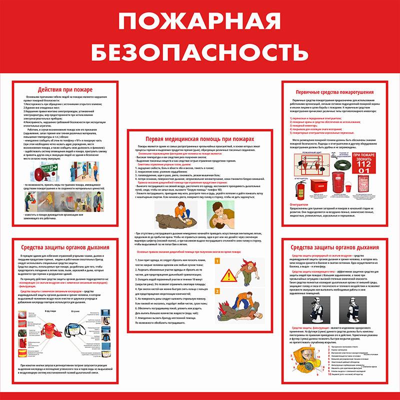 Стенд противопожарный информационный // 85х85см // №1