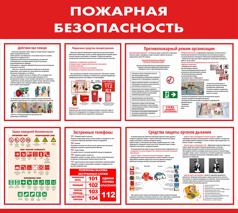 Стенд пожарный информационный // 95х85см // №1