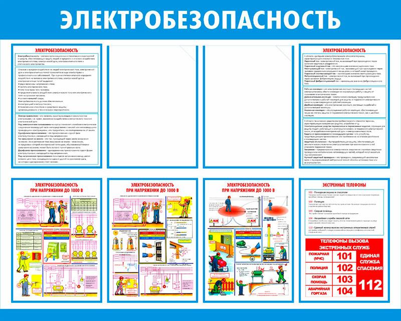 Стенд Электробезопасность  // 100х80см // №7