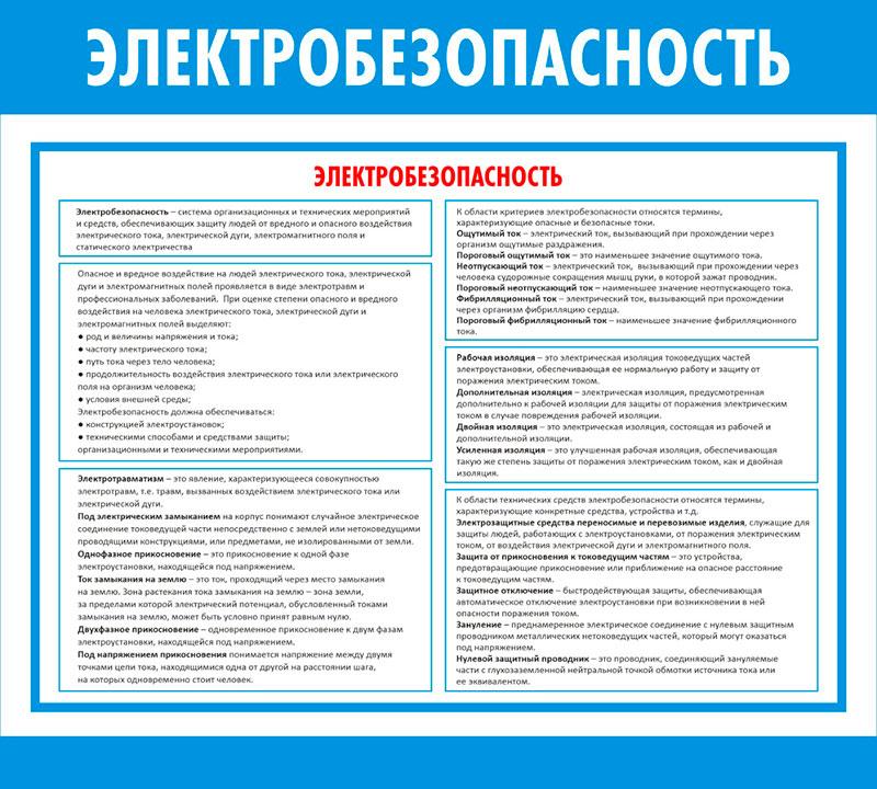 Стенд Электробезопасность  // 50х45см // №1