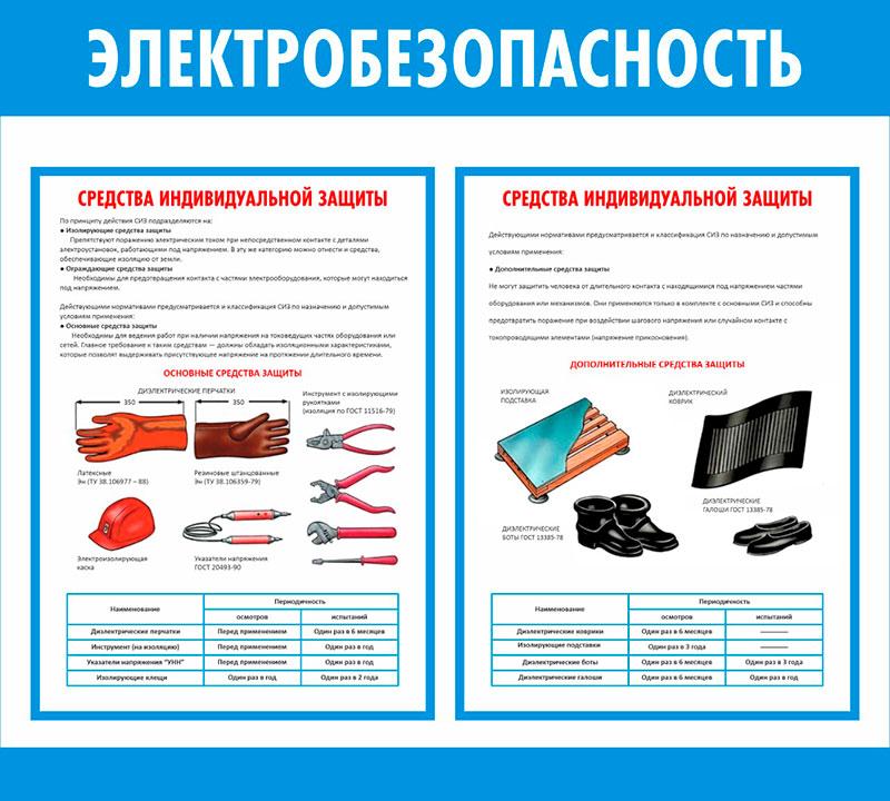 Стенд Электробезопасность  // 50х45см // №2
