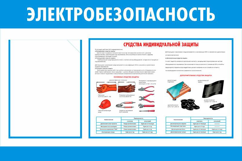 Стенд Электробезопасность  // 75х50см // №4