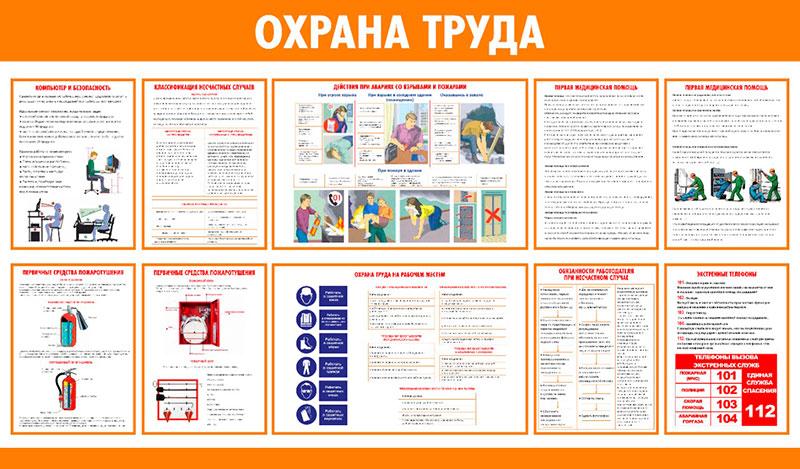 Информационный стенд по охране труда // 145х85см // №1