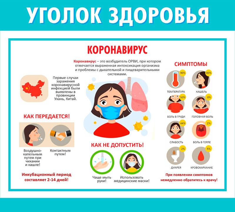 Детский Уголок здоровья // 50х45см // №1