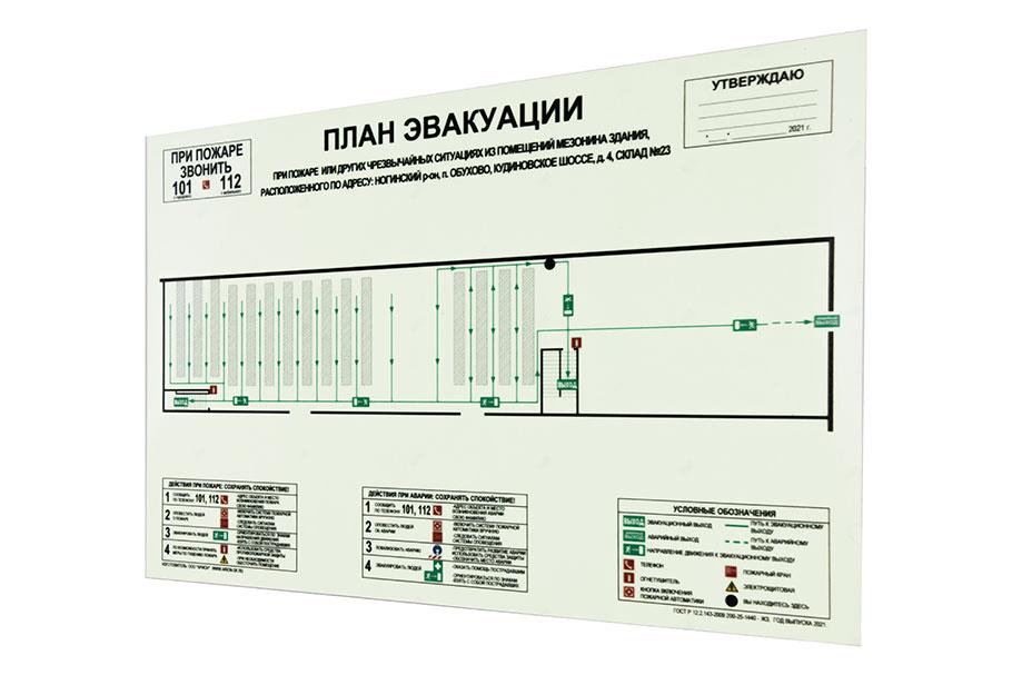 Схема  эвакуации при пожаре Базовая формат А2